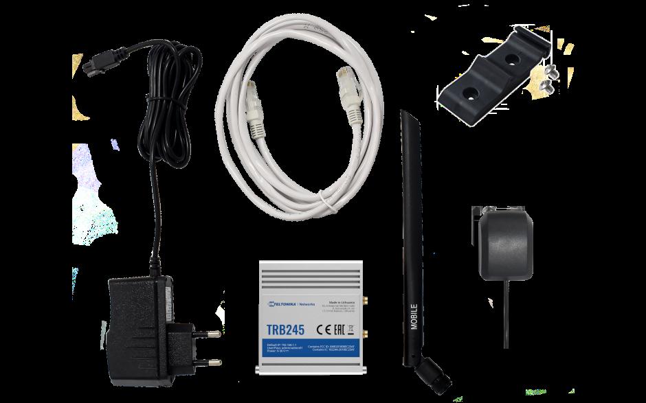 TRB245 - Gateway komórkowy 4G (LTE); Ethernet; 64MB RAM; DUAL SIM; SMS; IPSec; openVPN; możliwy montaż na szynie DIN 5