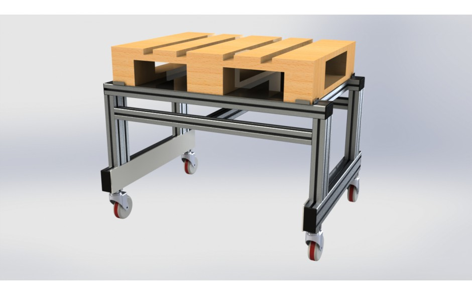 Wózek do modułu Shelf z systemu profili aluminiowych 2
