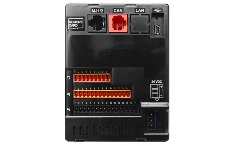 """Zestaw startowy z e-szkoleniem - Sterownik PLC z HMI X2 - 2.2"""", 12x DI (24V, 4 HSC 10 KHz), 12x DO (24V, 2 PWM 65KHz), 4x AI (4-20mA, 12 bit), 2x AO (4-20mA, 12 bit) 5"""