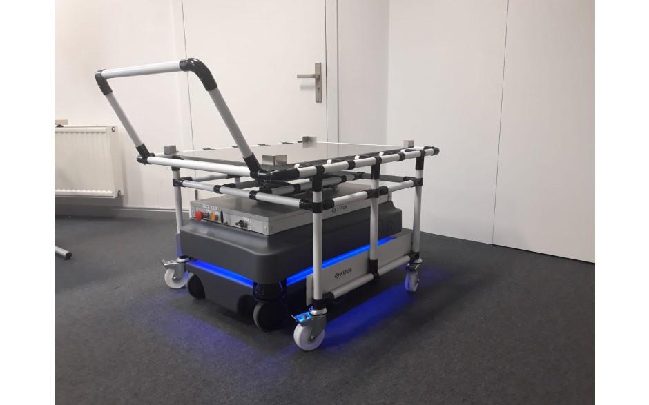 Wózek do modułu Shelf z systemu rurkowego typu Leantek 2