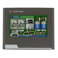 "Dotykowy panel operatorski Astraada HMI, matryca TFT 4,3"" (480x272, 65k), RS232/422/485, RS422/485, RS232, USB Client/Host, Ethernet, MicroSD"