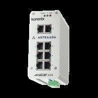 Switch Ethernetowy 8xRJ45 (10/100 Base-TX), zab. przeciwprzepięciowe Hi-Pot 1.5kV, IP31, -25...70C