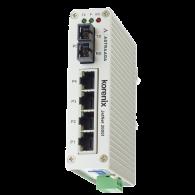 Switch przemysłowy, niezarządzalny, Ethernet - 4xRJ45 (10/100 Base-TX) + 1xSC multimode (100 Base-X)