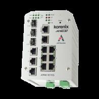 Switch przemysłowy, zarządzalny, Ethernet - 7xRJ45 (10/100 Base-TX) + 3xRJ45/SFP (100/1000 Base-X), RING, Modbus TCP