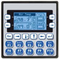 """XLe; PLC + HMI 2.25""""; 2 x RS232/485; 12 DI (24VDC), 12 DO (24VDC), 2 AI (0-10V, 0-20mA); zasilanie 9-30VDC"""
