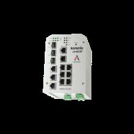 Switch zarządzalny przemysłowy, Ethernet - 10-portowy (7 x 10/100 Base-TX + 3 x RJ45/SFP - 100/1000 Base-X), RING, Modbus TCP, poszerzony zakres temperatur