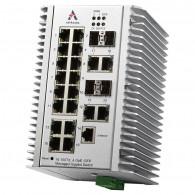 Switch zarządzalny przemysłowy, Ethernet - 20-portowy (16 x 10/100 TX + 4 x RJ45/SFP - 100/1000 FX), RING