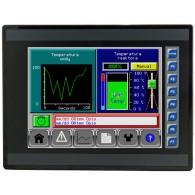 "EXL10; 10"" kolor, 1 MB pamięci, RS232, RS485, RS232/485, 3x Ethernet, 2x USB, MicroSD, 2x CAN; 12 DI (24V, 4 HSC), 6 DO (przekaźnik 2A), 4 AI (0-10V, 0-20mA, 4-20mA)"