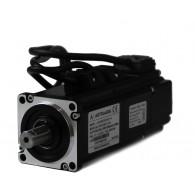 Serwosilnik o mocy 0.2kW (0.64Nm) z hamulcem, zasilanie 230V, enkoder absolutny, prędkość znam. 3000rpm, wym. kołnierza 60mm