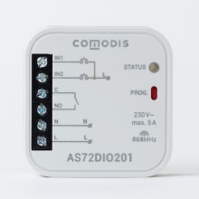 COMODIS - Bezprzewodowe wyjście cyfrowe przekaźnikowe dopuszkowe 1-kanałowe