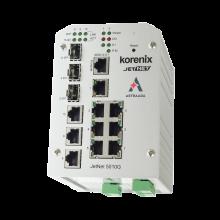 Switch zarządzalny przemysłowy, Ethernet - 10-portowy (7 x 10/100 Base-TX + 3 x RJ45/SFP  - 100/1000 Base-X), RING, Modbus TCP