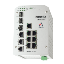 Switch przemysłowy, niezarządzalny, Ethernet - 7xRJ45 (10/100 Base-TX) + 3xRJ45/SFP (1000 Base-X)