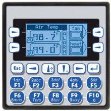 "Sterownik PLC z HMI XLe - 2.25"", CAN; 12 DI (12/24VDC), 12 DO (24VDC), 6 AI (0-10V, 0-20mA, TC, RTD), 4 AO (0-10V, 0-20mA); zasilanie 9-30VDC"