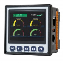 """Sterownik PLC z HMI XL4e - 3.5"""", 12 DI (24 VDC), 12 DO (24 VDC), 2 AI (0-10V, 0-20mA, TC, RTD), 2 AO (0-10V, 0-20mA); zasilanie 9-30VDC"""