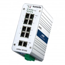 Switch PoE niezarządzalny przemysłowy, Ethernet - 10-portowy  (8 x 10/100 TX, PoE + 2 x 10/100/1000 TX)