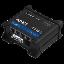 RUT955 - Router przemysłowy 4G (LTE); Ethernet; RS232/485; 128MB RAM; DUAL SIM; SMS; IPSec; openVPN; WiFi; montaż na szynie DIN