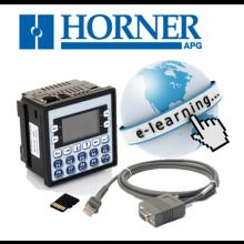 ZESTAW STARTOWY Z E-SZKOLENIEM XLe - Sterownik zintegrowany z panelem: PLC+ HMI+ IO+ Szkolenie