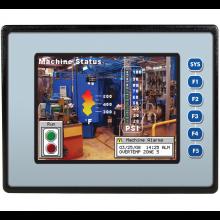 """Sterownik PLC z HMI EXL6 - 5.7"""", 12 DI (24V, 4 HSC), 6 DO (przekaźnik 2A), 4 AI (0-10V, 0-20mA, 4-20mA)"""